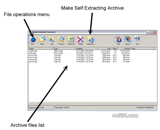 Visual Power Zip Screenshot 3