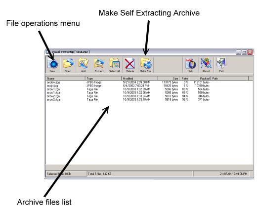 Visual Power Zip Screenshot