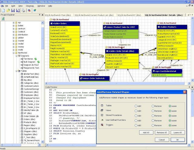 SQL Diagrams Screenshot