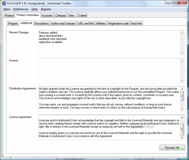 PromoSoft Screenshot 2