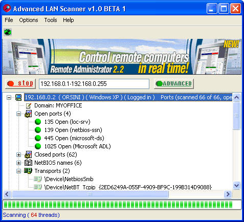 Advanced LAN Scanner Screenshot