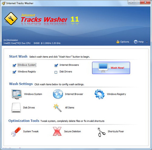 Internet Tracks Washer Screenshot