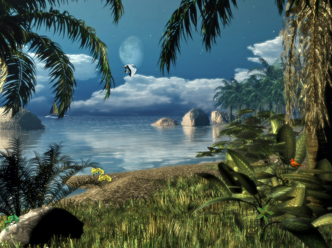 Caribbean Nights ScreenSaver Screenshot 1