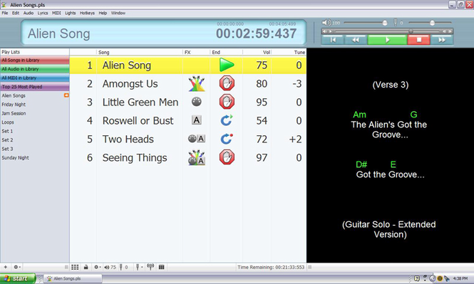 Solo Performer Show Controller Screenshot