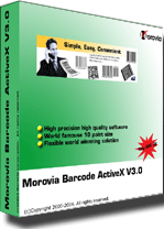 Morovia Barcode ActiveX Control Screenshot