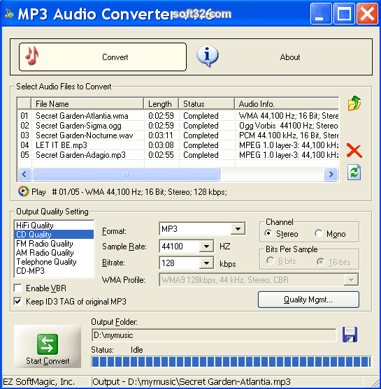 MP3 Audio Converter Screenshot 2