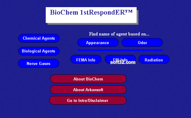 BioChem 1stRespondER Desktop Screenshot