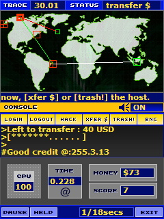 BS Hacker - Mobile Console (PocketPC) Screenshot