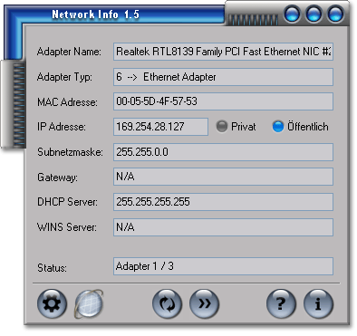 Network Info Screenshot 1