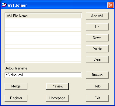 008Soft AVI Joiner Screenshot 1
