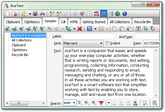 AceText Screenshot