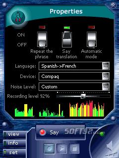 ECTACO Voice Translator Spanish -> French Screenshot 2