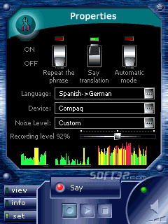 ECTACO Voice Translator Spanish -> German Screenshot 3