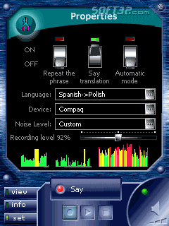 ECTACO Voice Translator Spanish -> Polish Screenshot 3