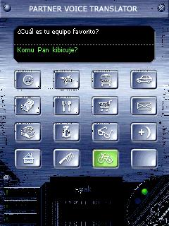 ECTACO Voice Translator Spanish -> Polish Screenshot