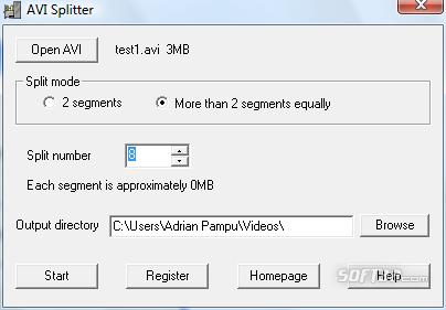 008Soft AVI Splitter Screenshot 4