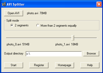 008Soft AVI Splitter Screenshot