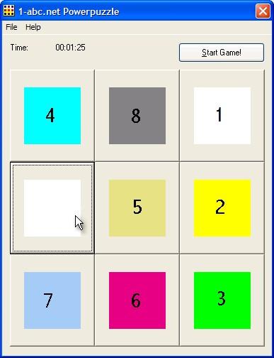 1-abc.net Powerpuzzle Screenshot