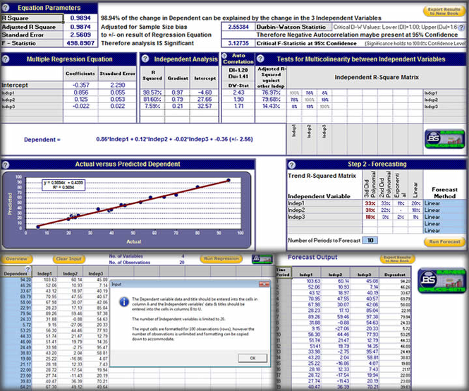 Regression Analysis and Forecasting Screenshot 1