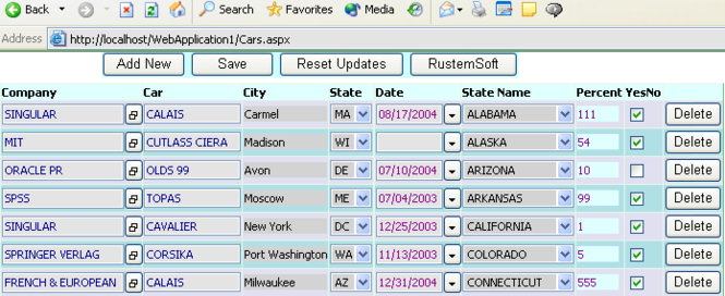 ASP DataGridColumns .NET assembly Screenshot