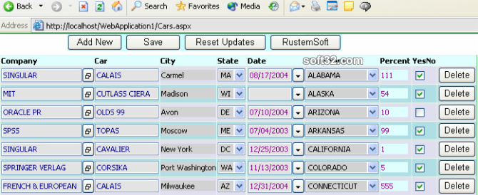 ASP DataGridColumns .NET assembly Screenshot 2