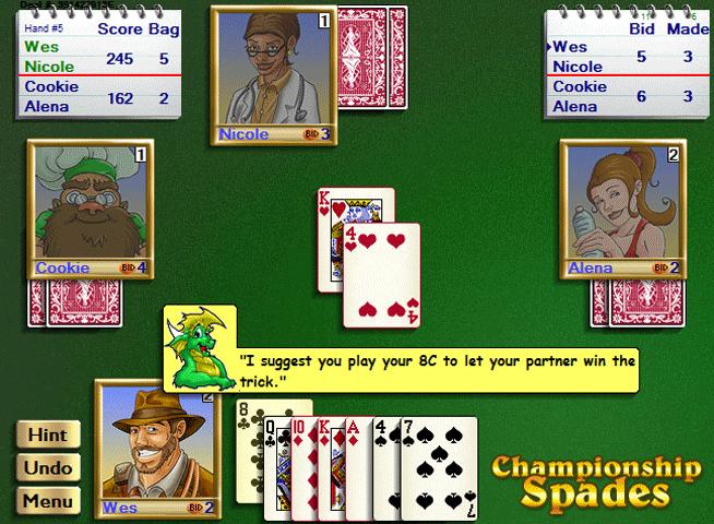 Championship Spades for Windows Screenshot 1