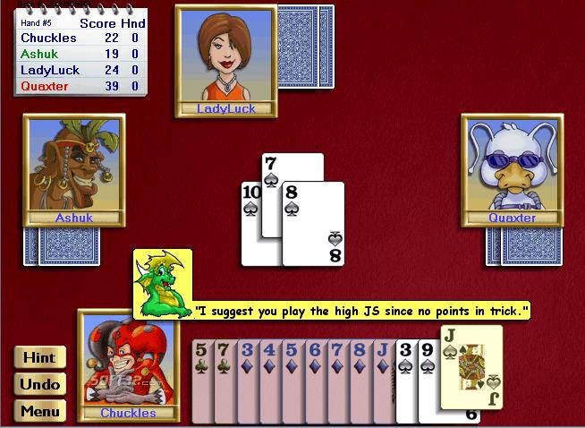 Championship Hearts for Windows Screenshot 2