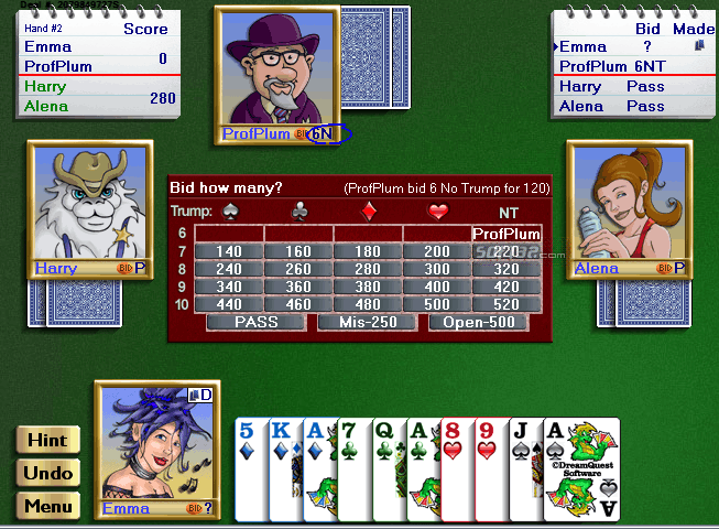 Championship Five Hundred for Windows Screenshot 2