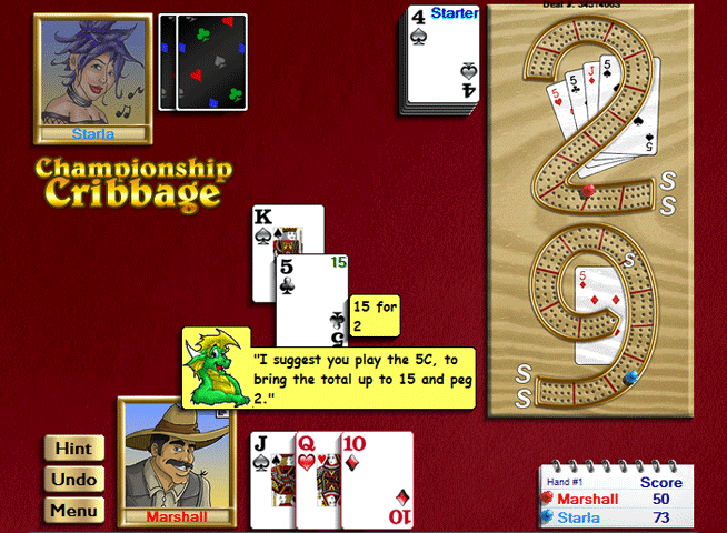 Championship Cribbage for Windows Screenshot 1