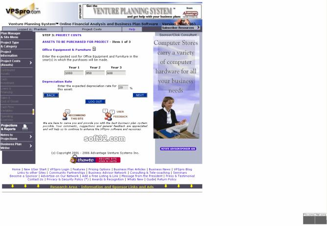 Venture Planning System Pro - VPSpro Screenshot 6