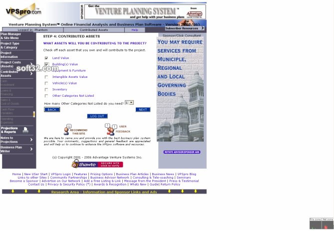 Venture Planning System Pro - VPSpro Screenshot 7
