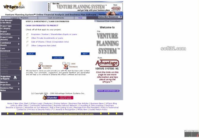 Venture Planning System Pro - VPSpro Screenshot 8
