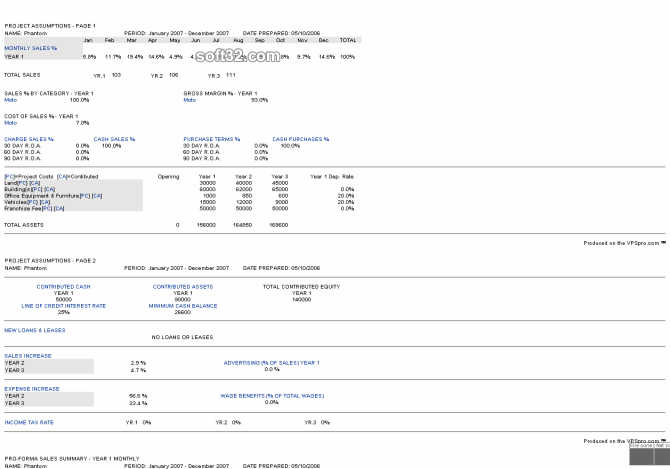 Venture Planning System Pro - VPSpro Screenshot 10