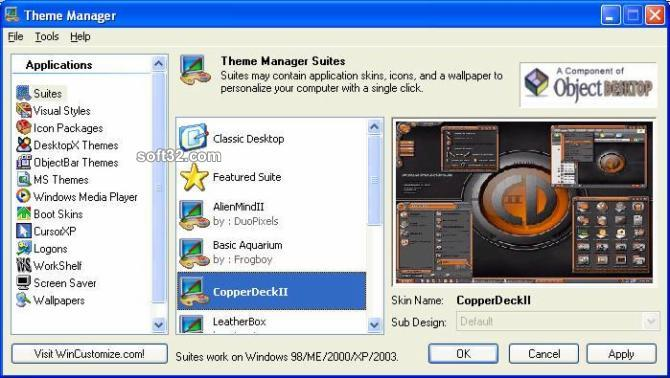 Theme Manager Screenshot 2