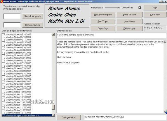 Mister Atomic Cookie Chips Muffin Mix Screenshot 1