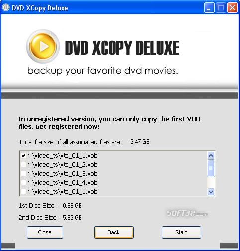 DVD XCopy Deluxe Screenshot 2