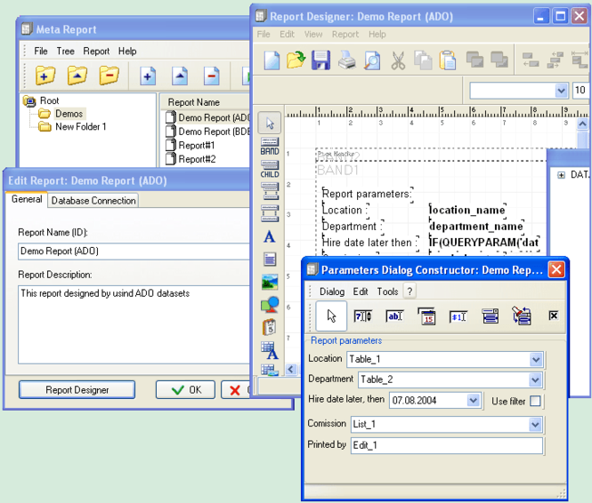 MetaReport Screenshot