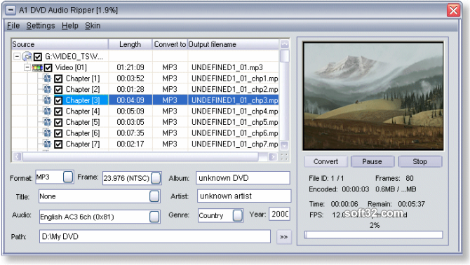 A1 DVD Audio Ripper Screenshot 2