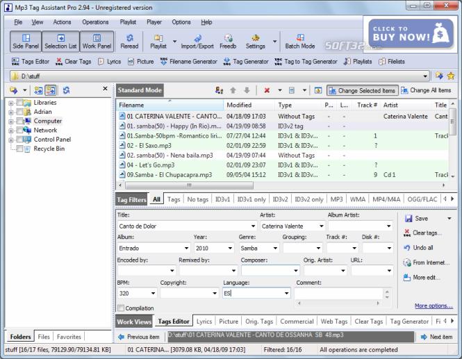 Mp3 Tag Assistant Professional Screenshot 2