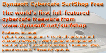 Dynasoft Cybercafe SurfShop Free Screenshot