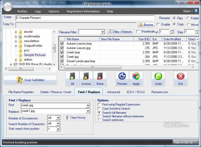 File Renamer Basic Screenshot 3