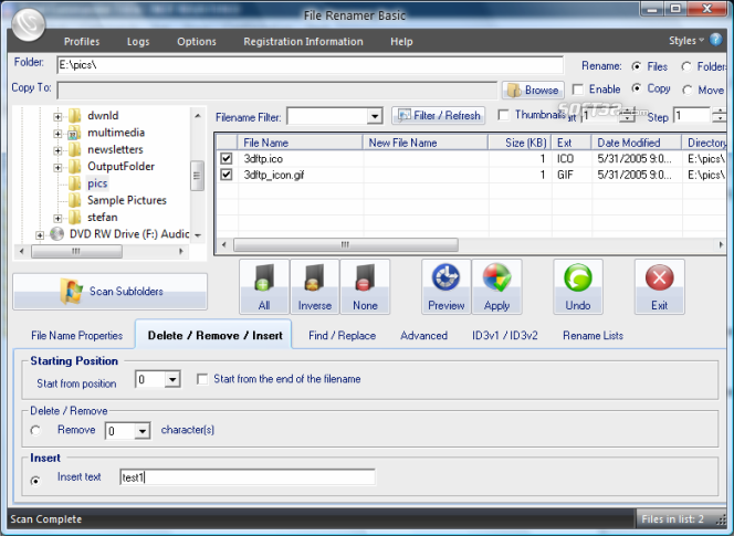 File Renamer Basic Screenshot 4