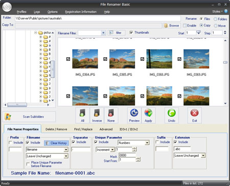 File Renamer Basic Screenshot 1