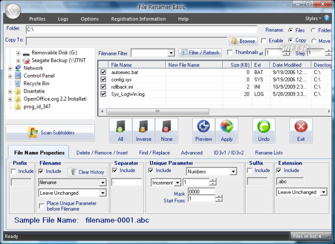 File Renamer Basic Screenshot 7