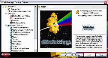 WinSettings Screenshot 1