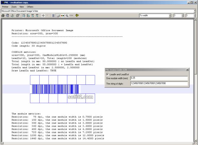 Code 128 C++ class Screenshot 3