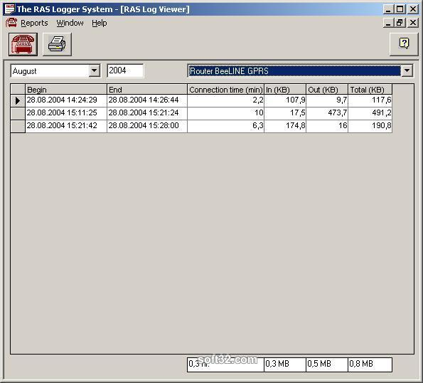 The RAS Logger System Screenshot 3