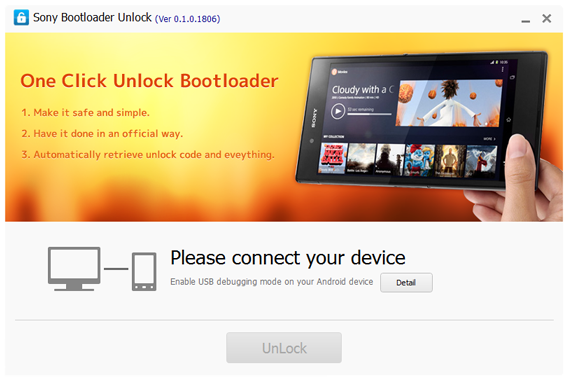 Kingo SONY Bootloader Unlock Screenshot 1