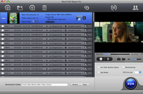 MacX DVD Ripper Pro Christmas Edition Screenshot
