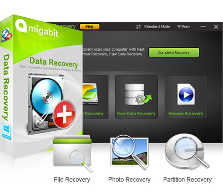 Amigabit Data Recovery Pro Screenshot